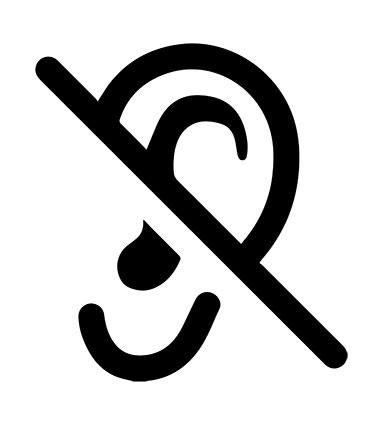 Logo d'une oreille qui n'entend pas le bruit pur grâce à l'aspiration centralisée